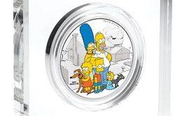 """Серебряная монета """"Симпсоны"""" 2 унции"""
