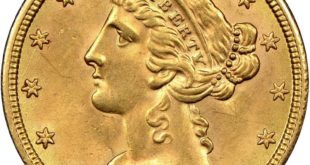 Золотая монета США «Голова Свободы. 5 долларов»