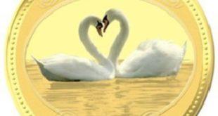 Золотая монета Любовь драгоценна , 1:2 унции, 15.55 г чистого золота, проба 0,999