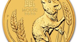 Золотая монета Австралии Лунный календарь III - Год Крысы, 2020