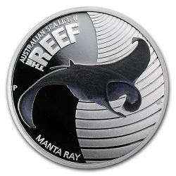 Австралийская монета Скат Манта (Manta Ray)