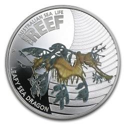 Австралийская монета Лиственный морской дракон (Leafy Sea Dragon)