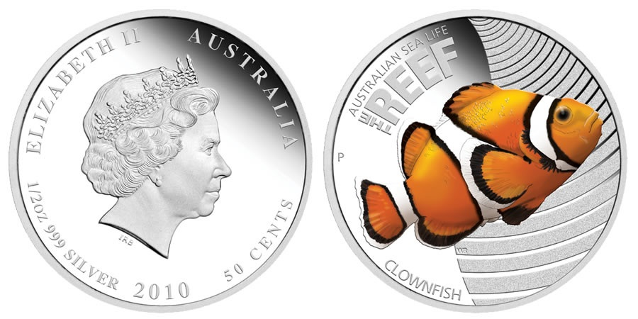 Австралийская монета Рыба-Клоун (Clownfish)