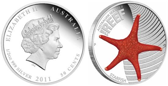 Австралийская монета Морская звезда (Starfish)