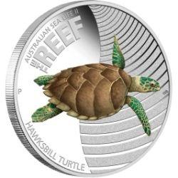 Австралийская монета Черепаха-Хоксибилла (Hawksbill Turtle)
