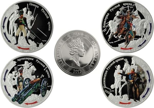 """Стальные монеты """"Отечественная война 1812 года"""""""