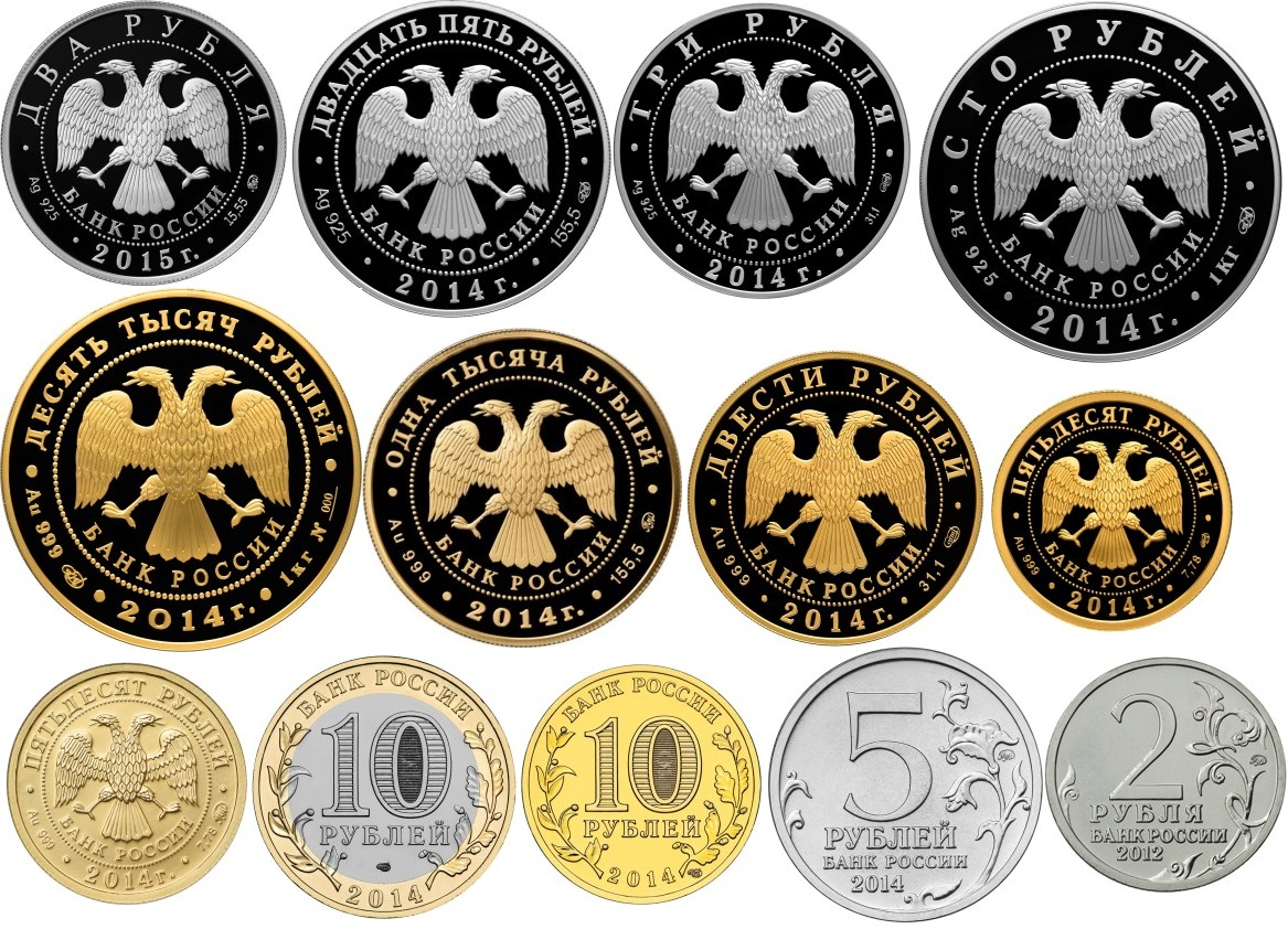 Юбилейые памятные монеты Банка России 2015 года. Список