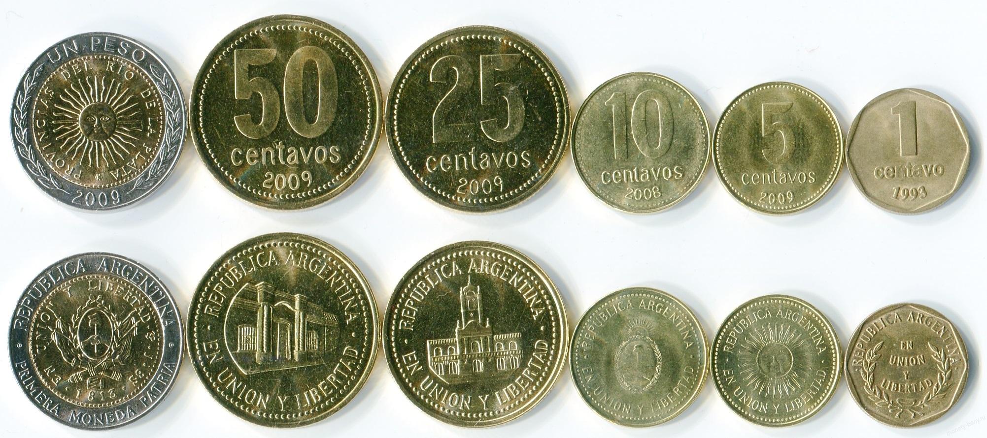 Монеты Аргентины - история, особенности, стоимость