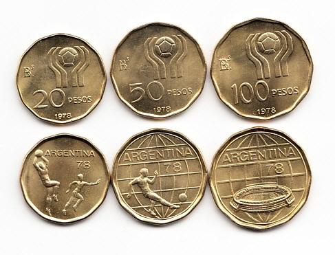 Набор памятных монет в честь Чемпионата мира по футболу в 1978 году