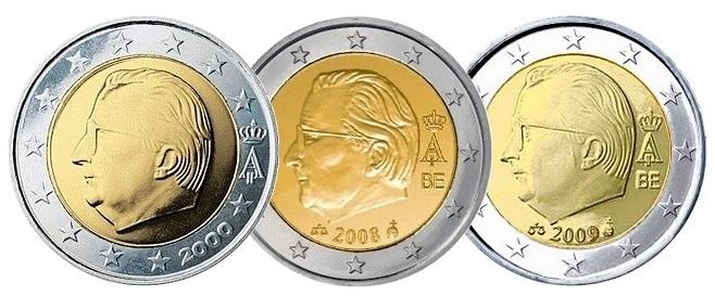 Бельгийские евро 2000, 2008 и 2009 годов