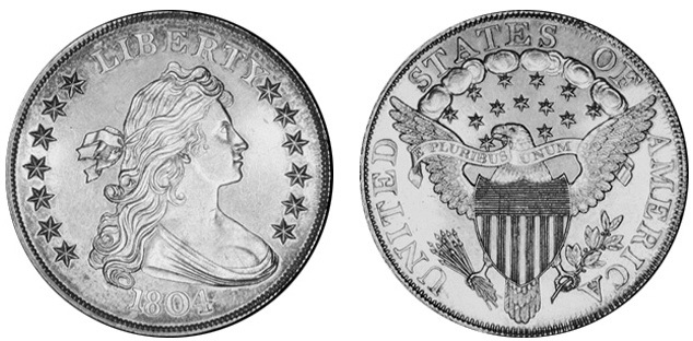 Монета США «Маленький Серебряный Доллар» 1804 года