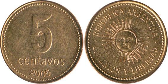 5 сентаво из алюминиевой бронзы