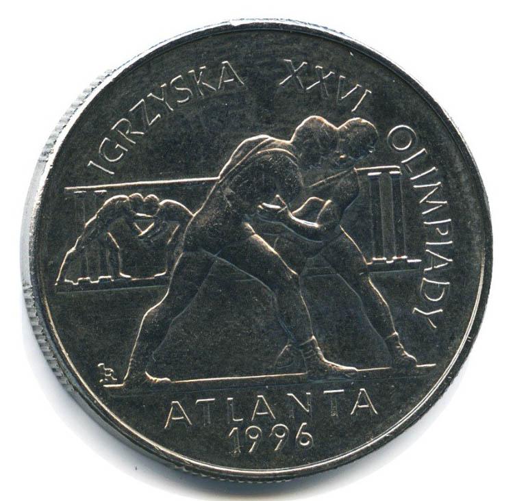Юбилейная монета Польши посвящена в честь Олимпиады, проходившей в американской Атланте
