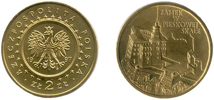 Юбилейная монета Польши посвящена замку в Песковой скале