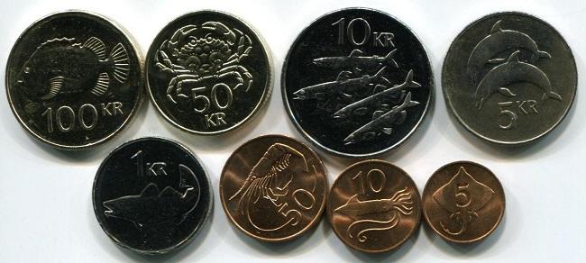 Монеты Исландии с ценами