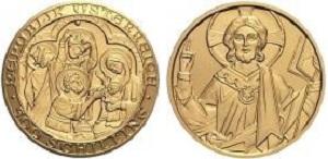 """Монета Австрии """"2000 лет христианству"""" 500 шиллингов 2001 года"""