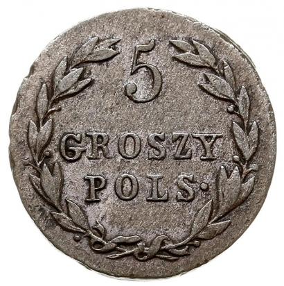 Монета 5 грошей 1818 года Александра I для Польши - реверс