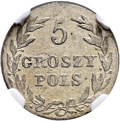 Монета 5 грошей 1816 года Александра I для Польши - реверс
