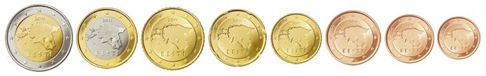 Монеты евро Эстония