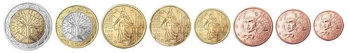 Монеты евро Франции
