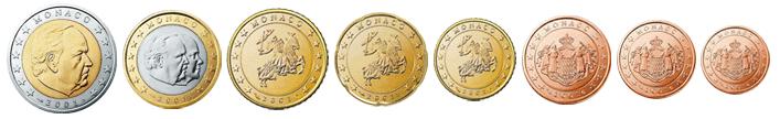Монеты евро Монако 2001