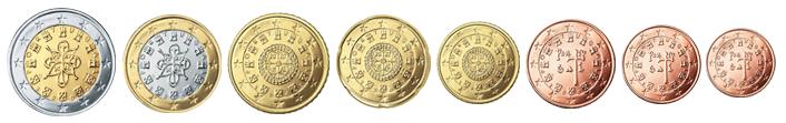 Монеты евро Португалии