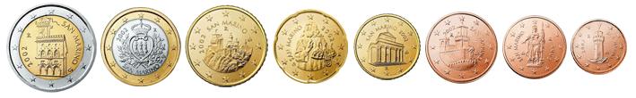 Монеты евро Сан-Марино