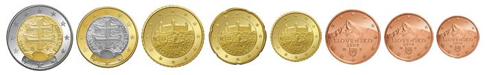 Монеты евро Словакии