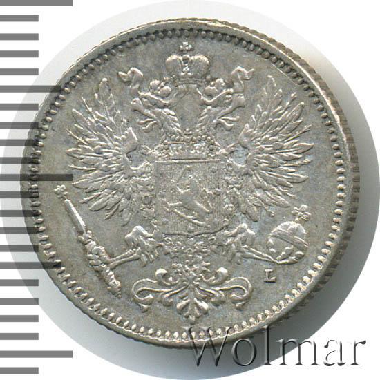Монета 50 пенни 1907 года для Финляндии (Николая II, буквы L) - аверс