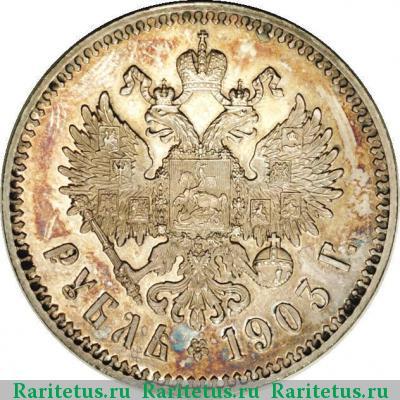 Монета 1 рубль 1903 года (Николая II, буквы АР) - реверс