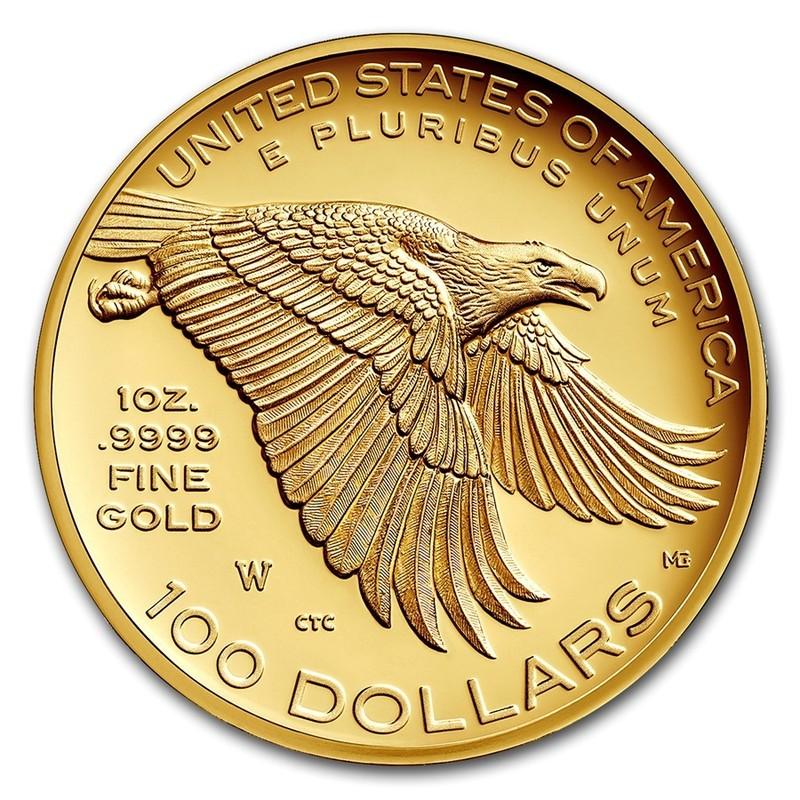 Золотая монета США «Юбилейная Американская Свобода» 2017 г.в., 31.1 г чистого золота