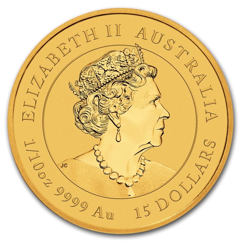Золотая монета Австралии Лунный календарь III - Год Крысы, 2020г