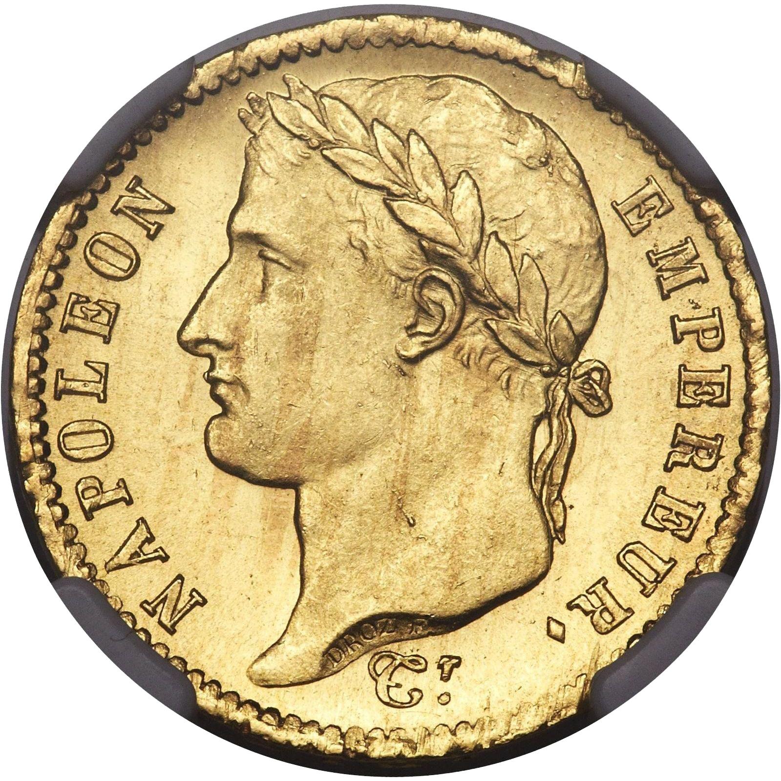 Монета Франции - 20 франков 1812г - Наполеон I