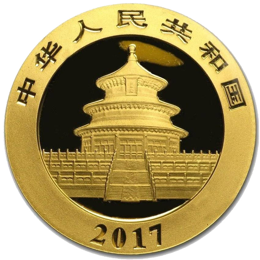 Монета Китая — Панда 100 юаней — 2017 года